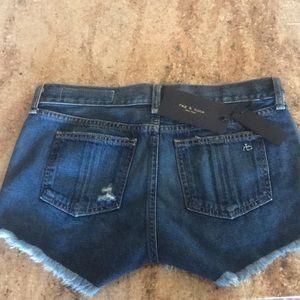 Rag & bone jean shorts size 25